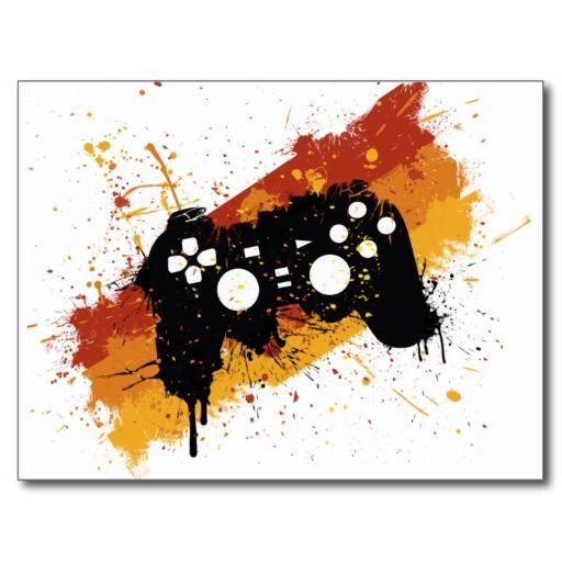 Pad Graffiti Gaming Video Games Gamer Postcard Zazzle