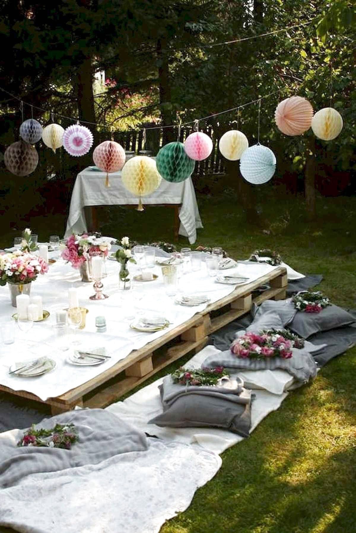 61 Amazing Outdoor Summer Party Decorations Ideas Garden Party