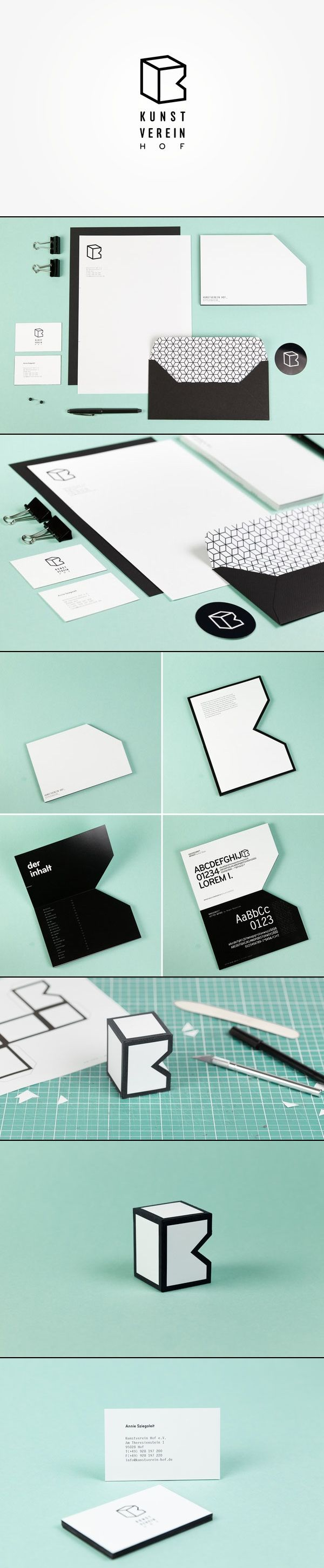 Kunstverein Hof – Branding by Sebastian Berbig and Derya Ormanci | repinned by www.BlickeDeeler.de | Take a look at www.LogoGestaltung-Hamburg.de