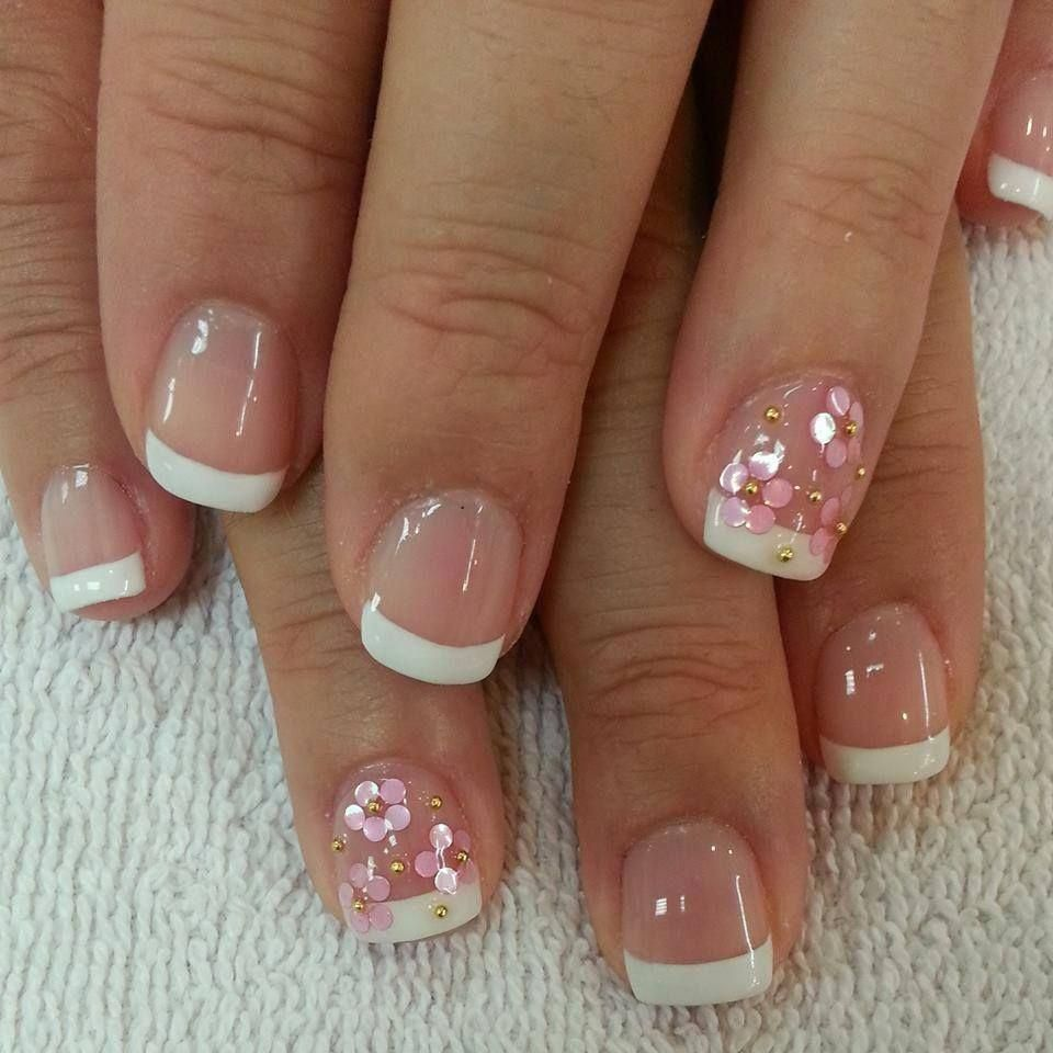 Simple French Nail Designs For Short Nails Acrylicnailartdesignsshort French Nail Designs French Manicure Nails Simple Nails