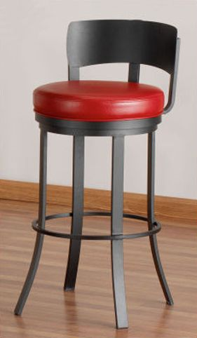 Contemporary Kitchen Stool With A Low Back That Fits Under The