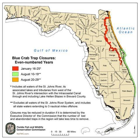 Blue Crab Trap Closure Zones Blue Crab Trap Crab Trap Florida Fish