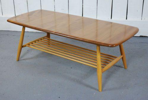 Retro Ercol Blonde Windsor Coffee Table Vintage Elm Ebay