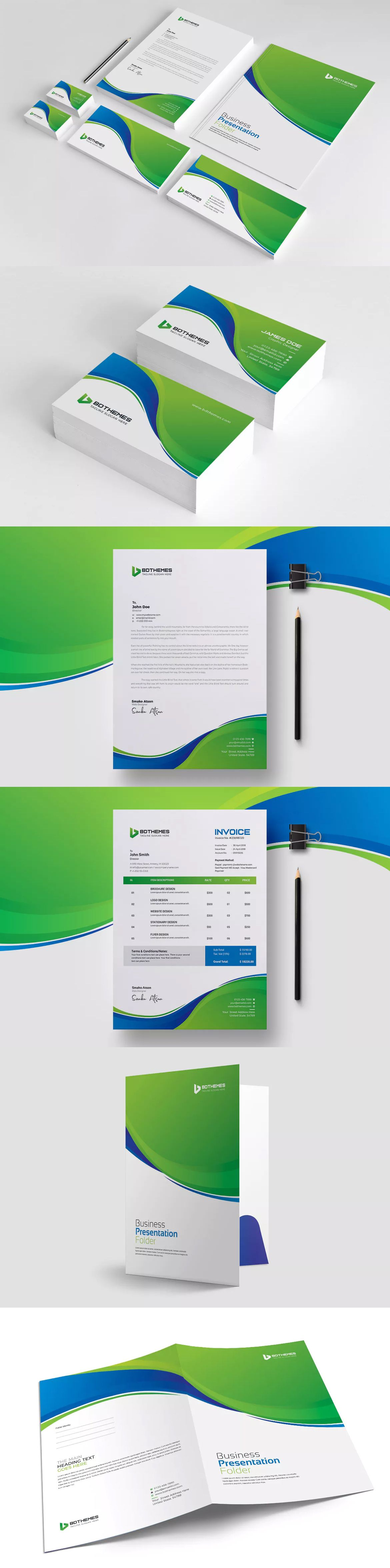 Business stationery template ai eps psd a4 us paper size business stationery template ai eps psd a4 us paper size fbccfo Images