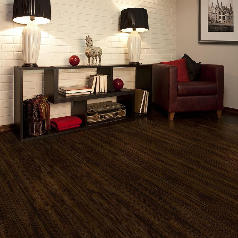 Allure flooring for bathrooms - Trafficmaster Allure 6 In X 36 In Iron Wood Resilient Vinyl Plank Flooring