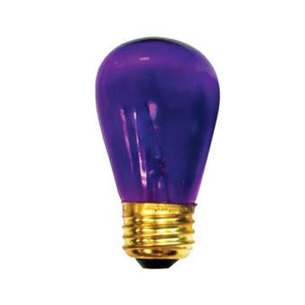 11w S14 Sign Transparent Purple E26 130v Indicator Night Light Case Of 100 Products Night Light Lighting Light Bulb
