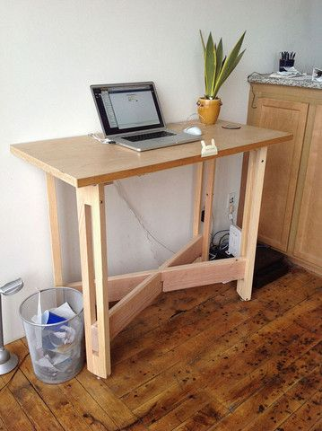 Custom Standing Desk    The Way That The Frame Is Made And Joins At The