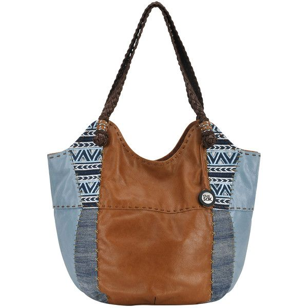 343e05c63477 Women s THE SAK Indio Large Tote - Blue Denim Embroidery Leather... (790 · Brown  Leather HandbagsLeather ...