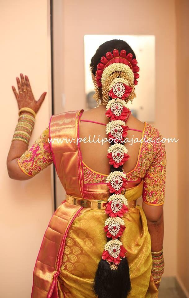 Pellipoolajada Branches All Over Ap Telangana Tamilnadu Karnataka Indian Bridal Hairstyles Bridal Hairstyle Indian Wedding South Indian Wedding Hairstyles