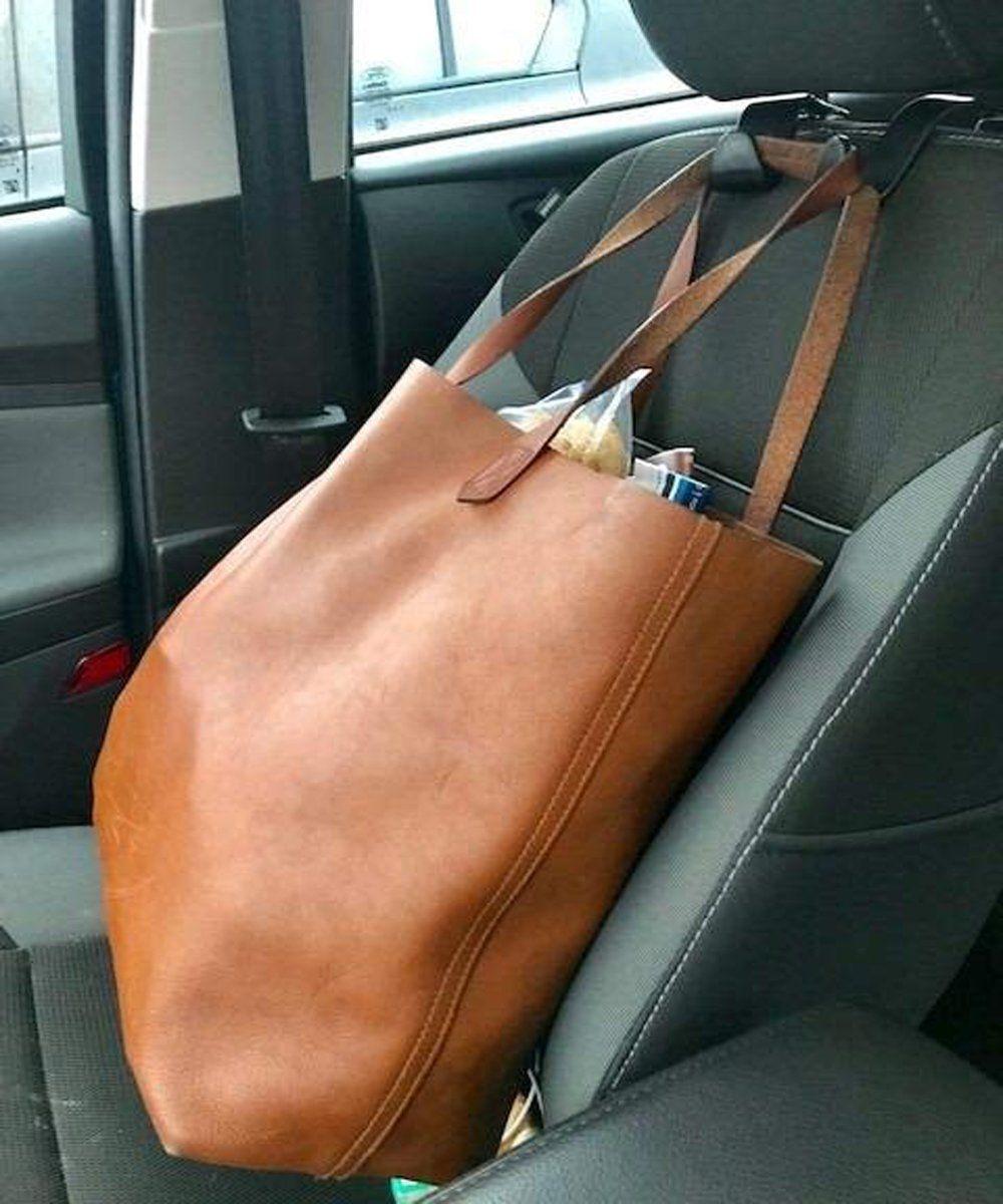 Bling Car Hangers Universal Backseat Hanger Storage for Purse Hooks Bag Handbag Groceries EldHus 4-Pack Car Hooks Headrest Hook
