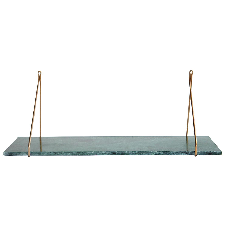 Apart hylly, vihreä marmori/messinki ryhmässä Huonekalut / Säilytys / Hyllyt @ ROOM21.fi (Housedr4)
