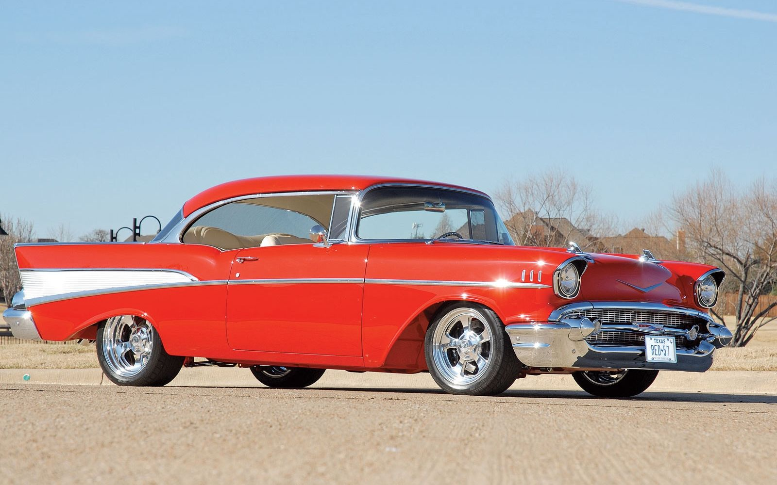 57 Chevy Wallpaper Red 57 57 Chevy Cars Chevrolet Chevy