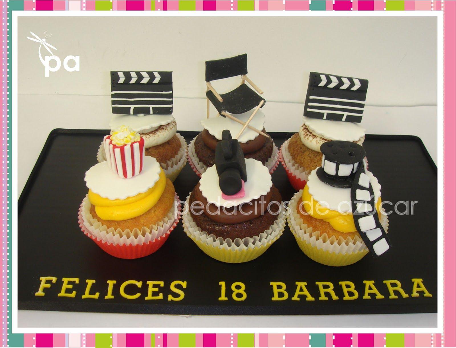 Pedacitos de az car cupcakes cine decoraci n tartas en 2019 decoracion tarta pasteles y - Pizza rapid silla ...