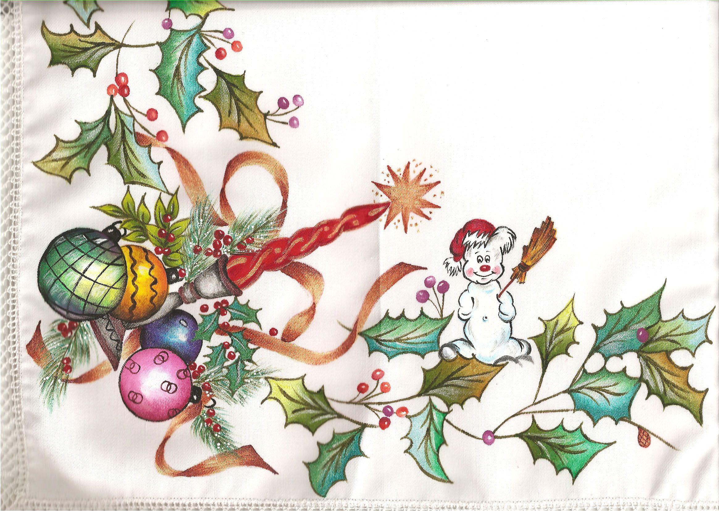 Pintura en tela navidad mis manualidades - Pintura en tela dibujos ...