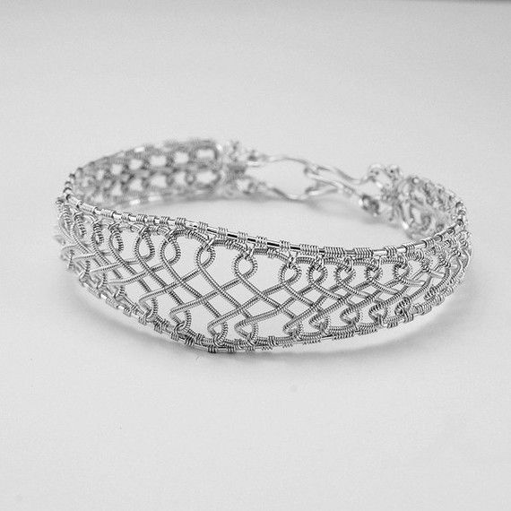 Celtic Cuff Coiled Silver Braided Bracelet - Instant Download Wire ...