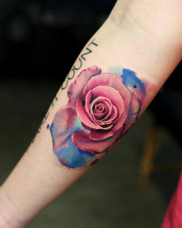 120 Meaningful Rose Tattoo Designs Watercolor Rose Tattoos