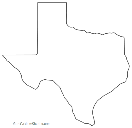 photograph relating to Printable Texas Map known as Texas - Map Determine, Printable Country, Form, Stencil