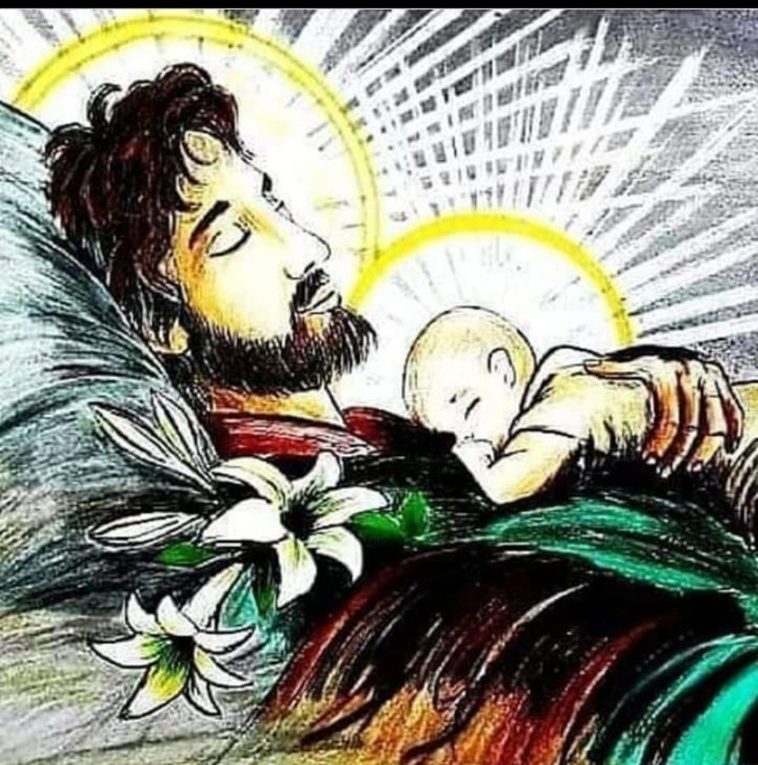 Pin By Master Jessie On San Jose In 2020 Saint Joseph Art Jesus Art Catholic Art
