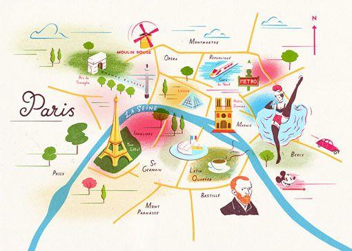 Paris Map With Images City Maps Design Illustrated Map Paris City Map