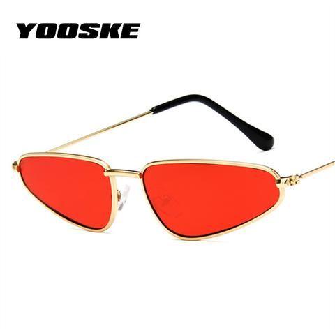 d528846210f3d YOOSKE Small Frame Cat Eye Sunglasses Women Trendy Catwalk Sun glasses  Famle Drop Shaped Ocean Retro Sunglasses for Women UV400