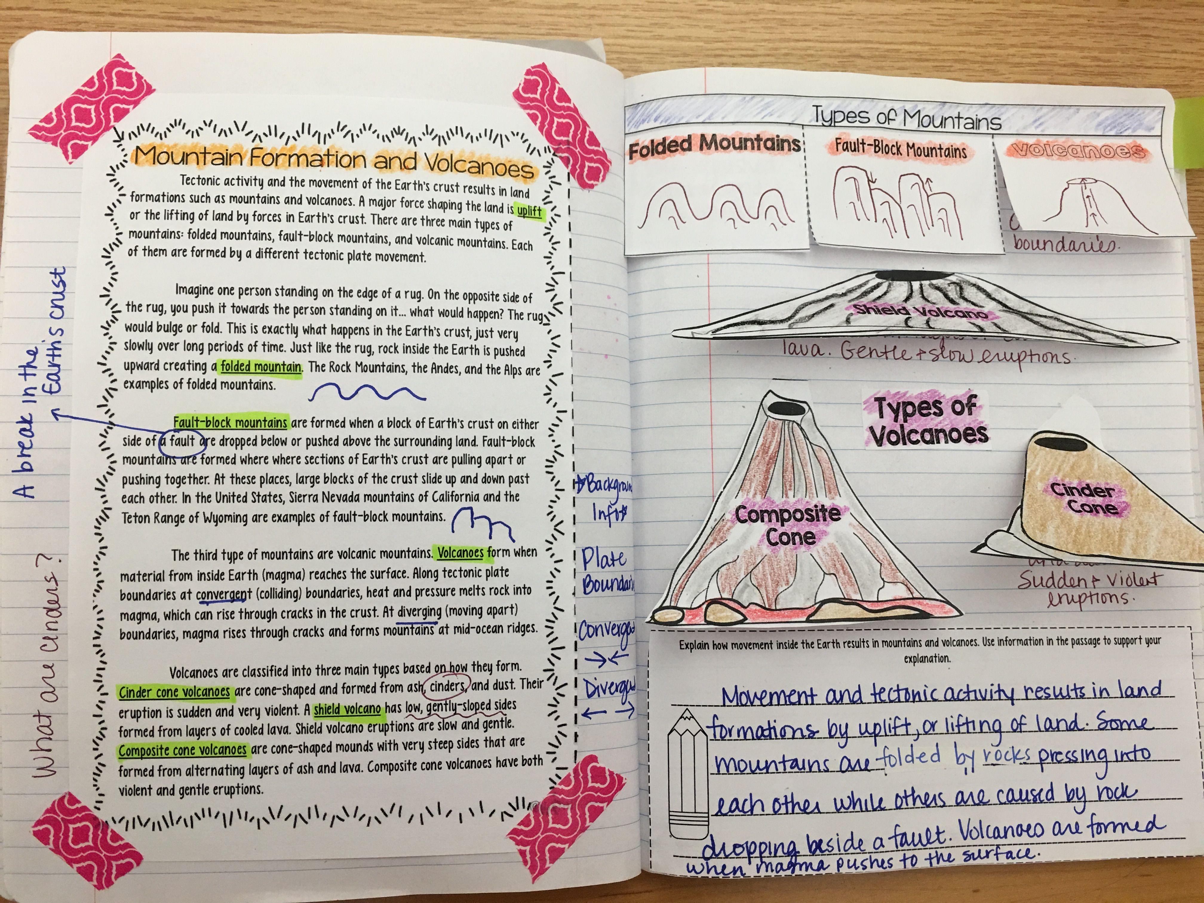 Worksheet Volcanoes Reading Comprehension Worksheet Carlos Lomas