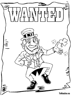 leprechaun wanted coloring page