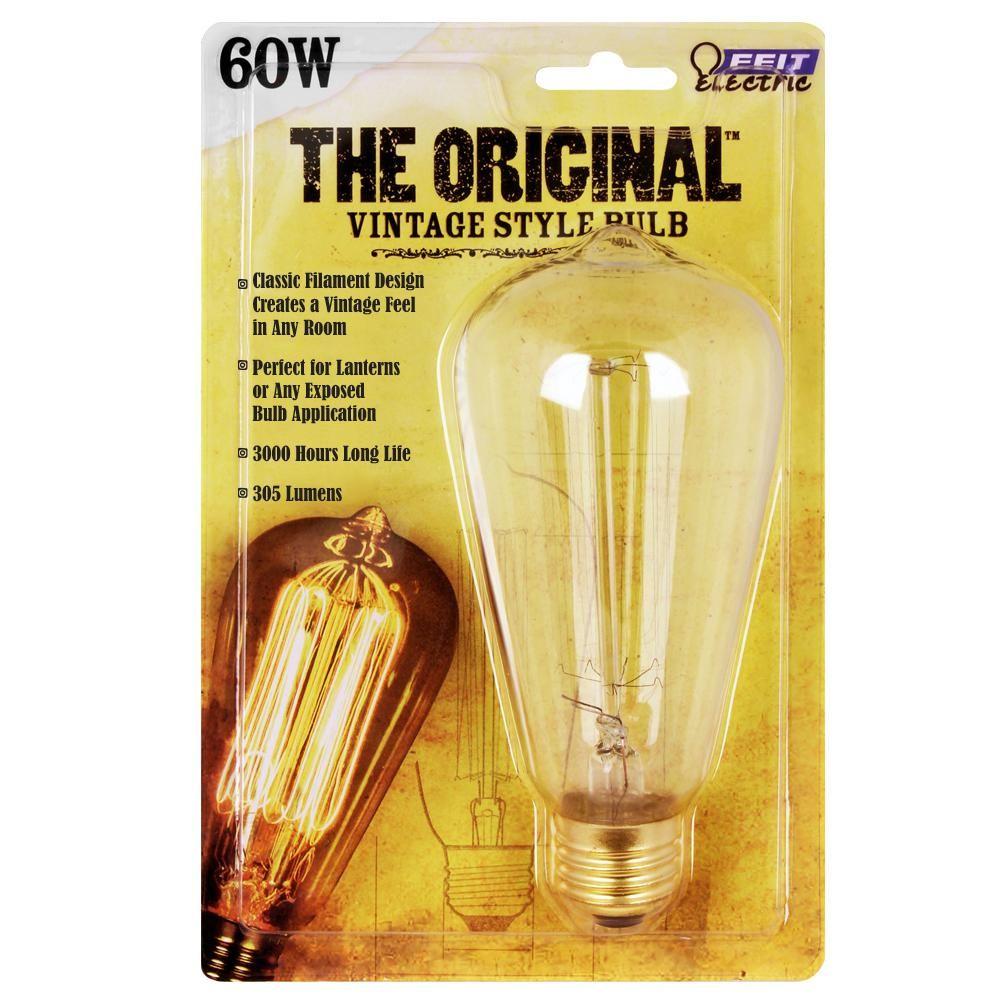 [-] 60 Watt Edison Bulb Home Depot