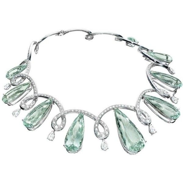 Faraone Mennella Ice Princess Aquamarine Necklace ❤ liked on Polyvore featuring jewelry, necklaces, aquamarine jewellery, aquamarine necklace and aquamarine jewelry
