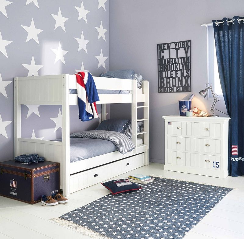 Lit superpos en bois blanc newport meubles pas cher pinterest bedroom room and kids bedroom - Lit superpose bois pas cher ...