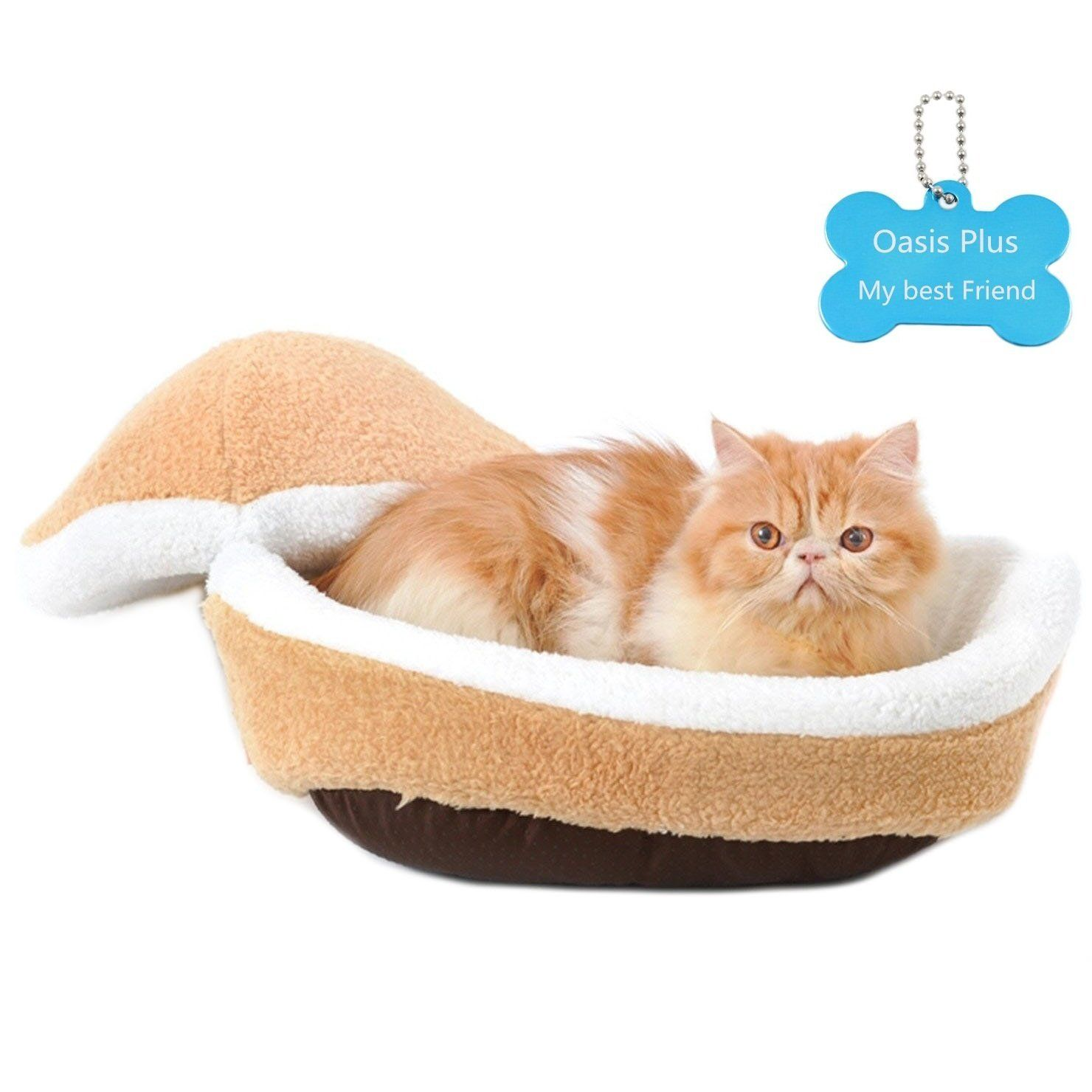 Oasis Plus Hamburger Style Windproof Cat Bed House Shell Nest Kitten Litter Thermal Hiding To Vi Dog Sleeping Bag Washable Pet Bed Warm Dog House