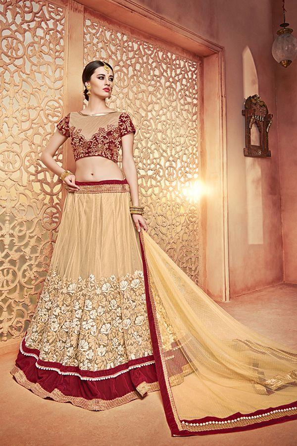 2955ff0dd1 Off White Color Silk & Butterfly Fabric Lehenga Choli. | Lehenga ...