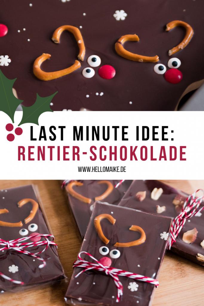 Last Minute Geschenkidee - Weihnachtsschokolade | Hello Maike