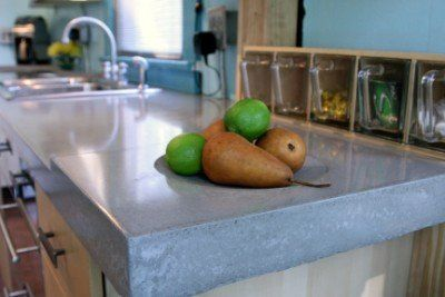 Concrete Countertops For Modern Kitchen Design With Quikcrete Concrete Countertops Concrete Kitchen Counters Quikrete Countertop Mix