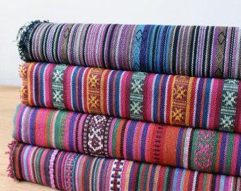 Bunte Streifen Stoff Aztec Stoff Tribal Stoff Ethnische Stoff Native