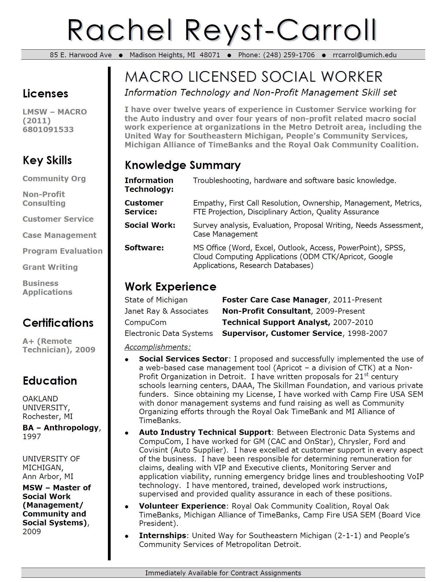 Umich Resume Builder Resume Examples Umich  Resume Examples And Sample Resume