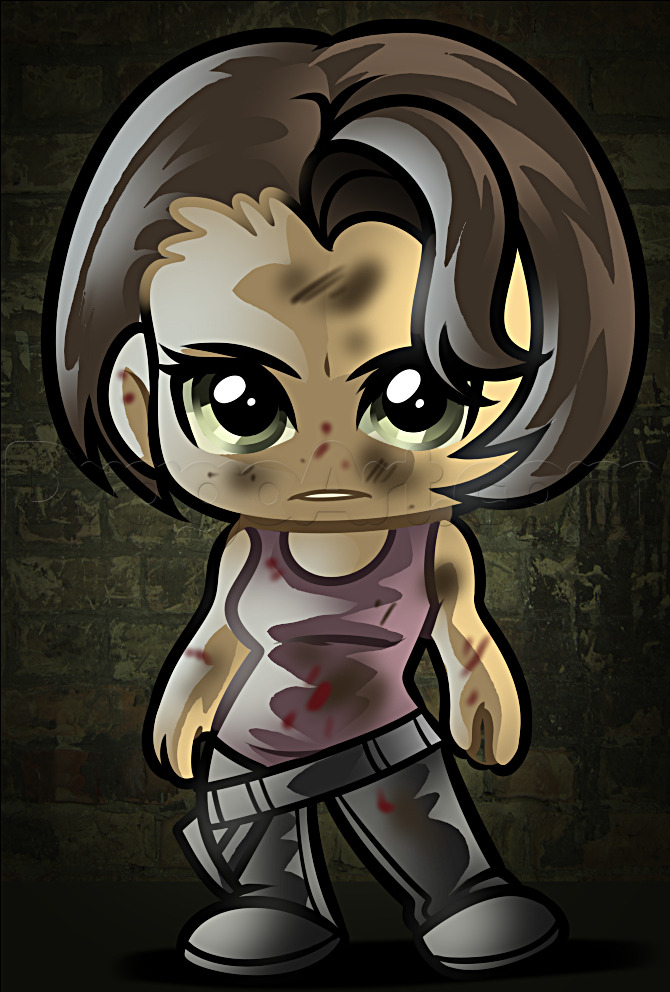 How To Draw Chibi Maggie From The Walking Dead Chibi Drawings Chibi The Walking Dead