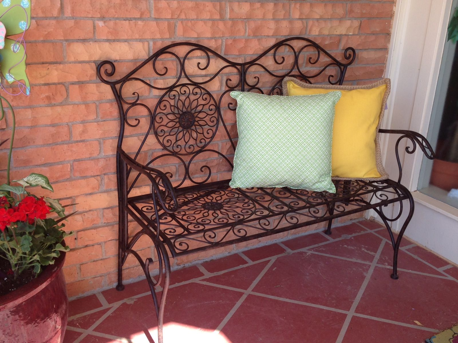 Hobby Lobby Benches | Iron Bench Adds Seating And Completes The Outdoor Room
