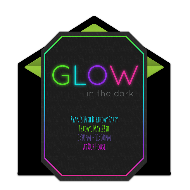 Free glow in the dark invitations dark easy and free customizable free glow in the dark online invitations easy to personalize and send for stopboris Image collections