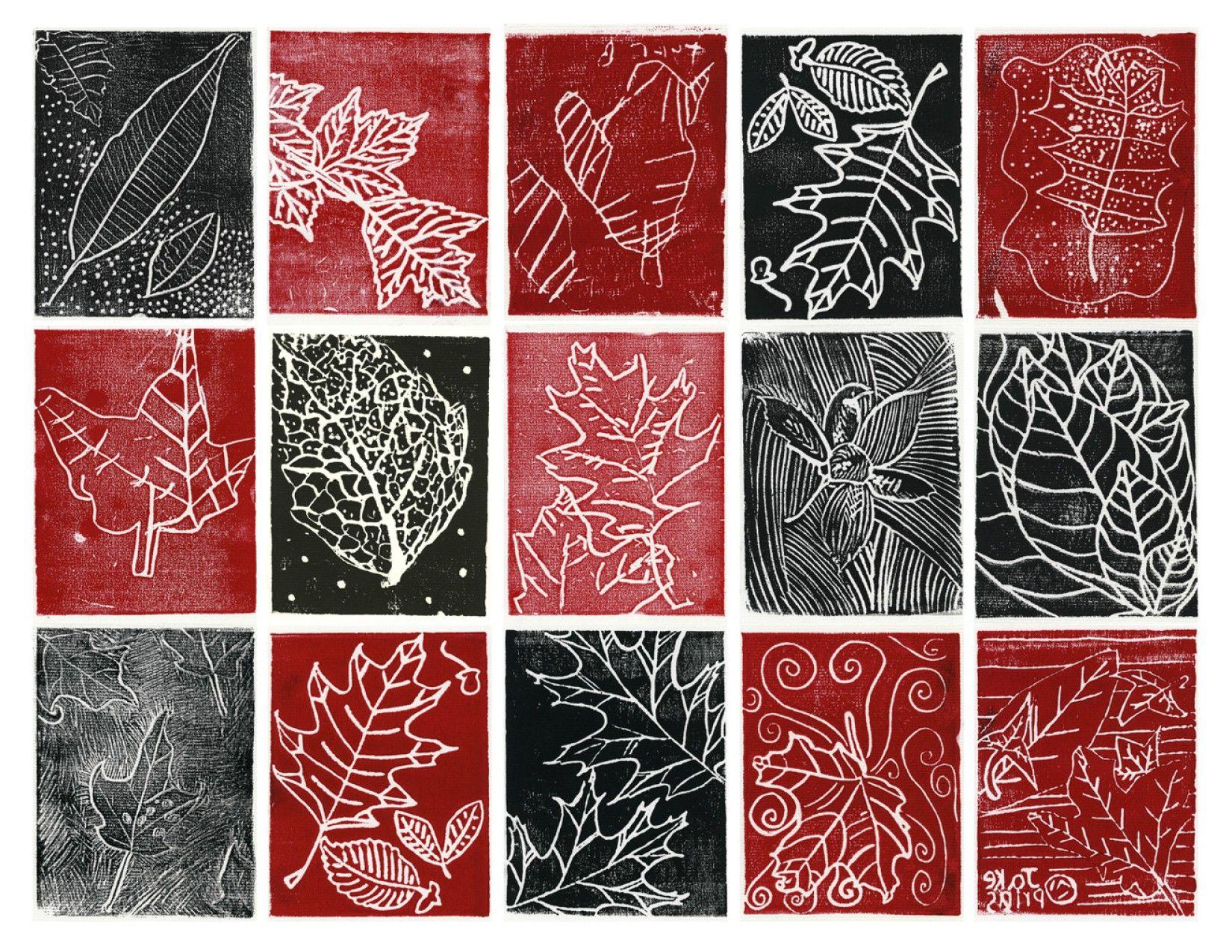 monoprinting leaves   Printmaking   Pinterest   Drucktechnik und Rose