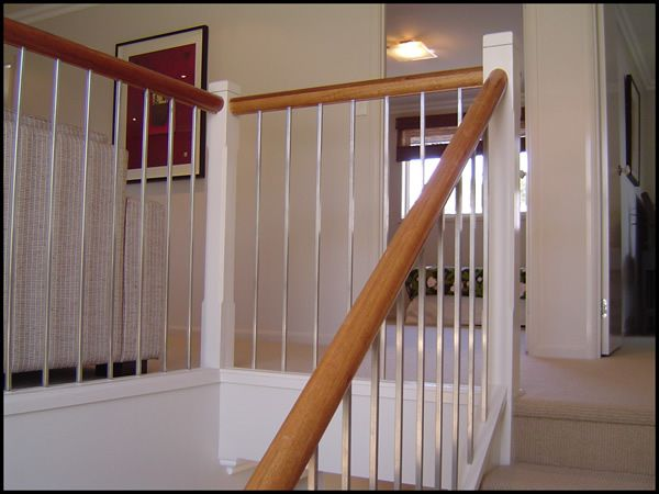 27 Maple Dowel Handrail With Stainless Steel Square