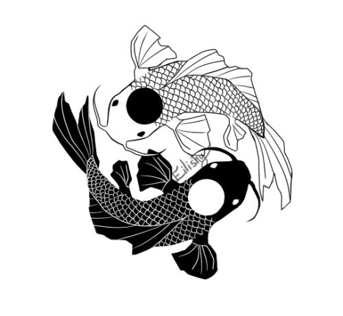 Yin Yang Fish Tumblr Yin Yang Fish Koi Fish Drawing Yin Yang Koi