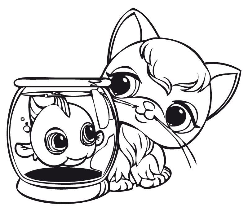 little pet shop coloring pages # 4