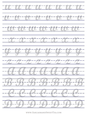 image about Brush Lettering Practice Sheets Printable named How I Coach Brush Lettering (+ Cost-free Printable Educate