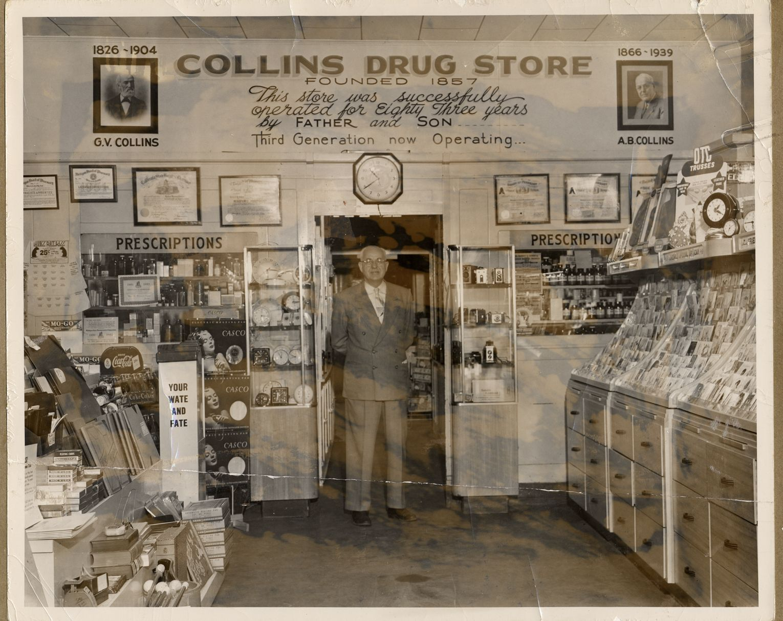 Michigan eaton county potterville - Interior Of Collins Drug Store In Charlotte 1940 Dpl Dams