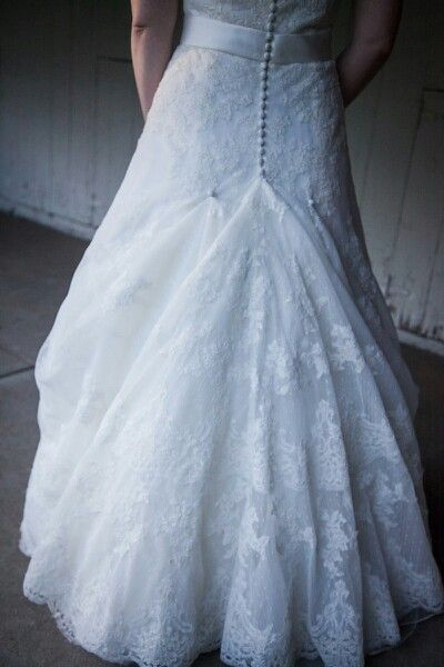 Ballroom Bustle On A Lace Cathedral Train Wedding Dress Bustle Wedding Dress Train Bustle Sewing Wedding Dress
