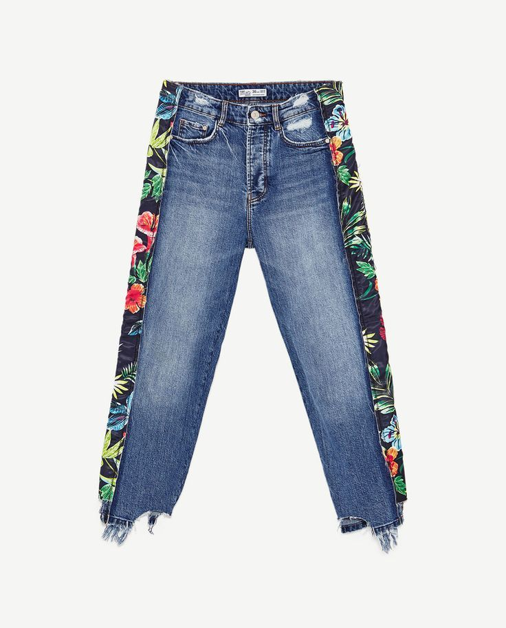 schön in der Farbe schön in der Farbe gehobene Qualität Bild 8 von SLIM FIT-JEANS MIT SEITENSTREIFEN von Zara #jeans ...