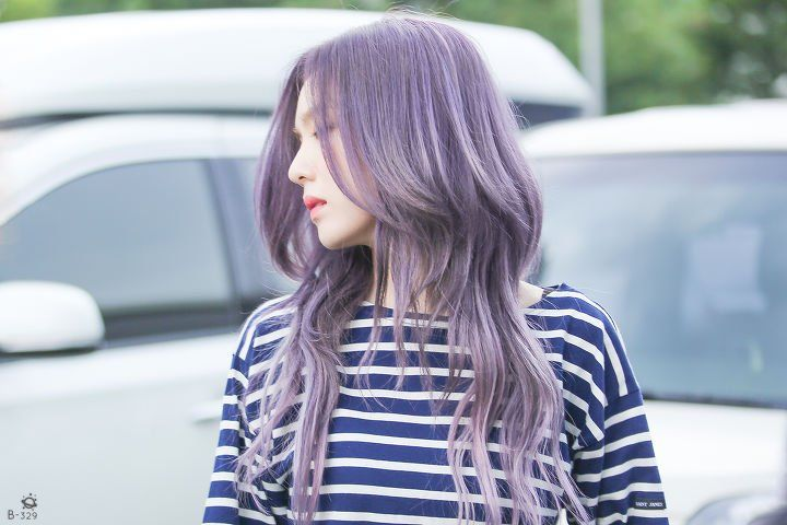 Irene From Red Velvet Darker Ashy Silver Purple Hair Rambut Ungu Rambut Ungu