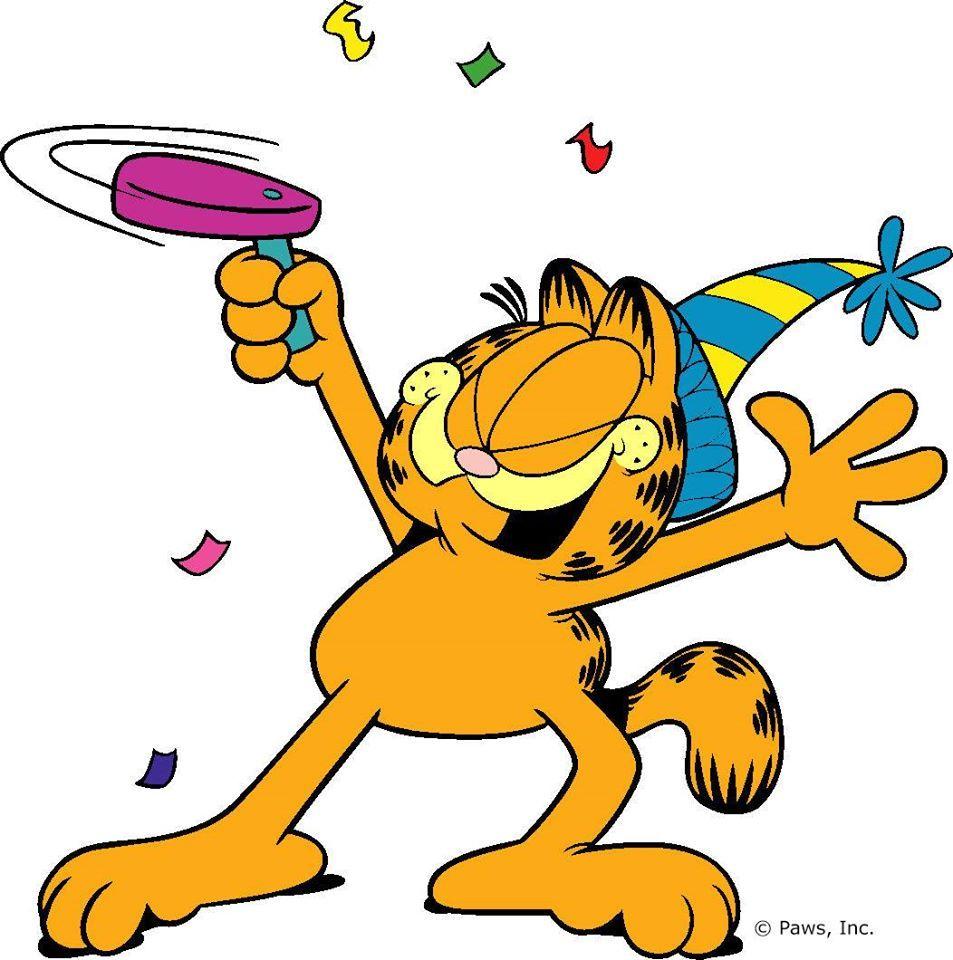 Cartoon Characters Birthdays : Happy new year garfield odie pinterest