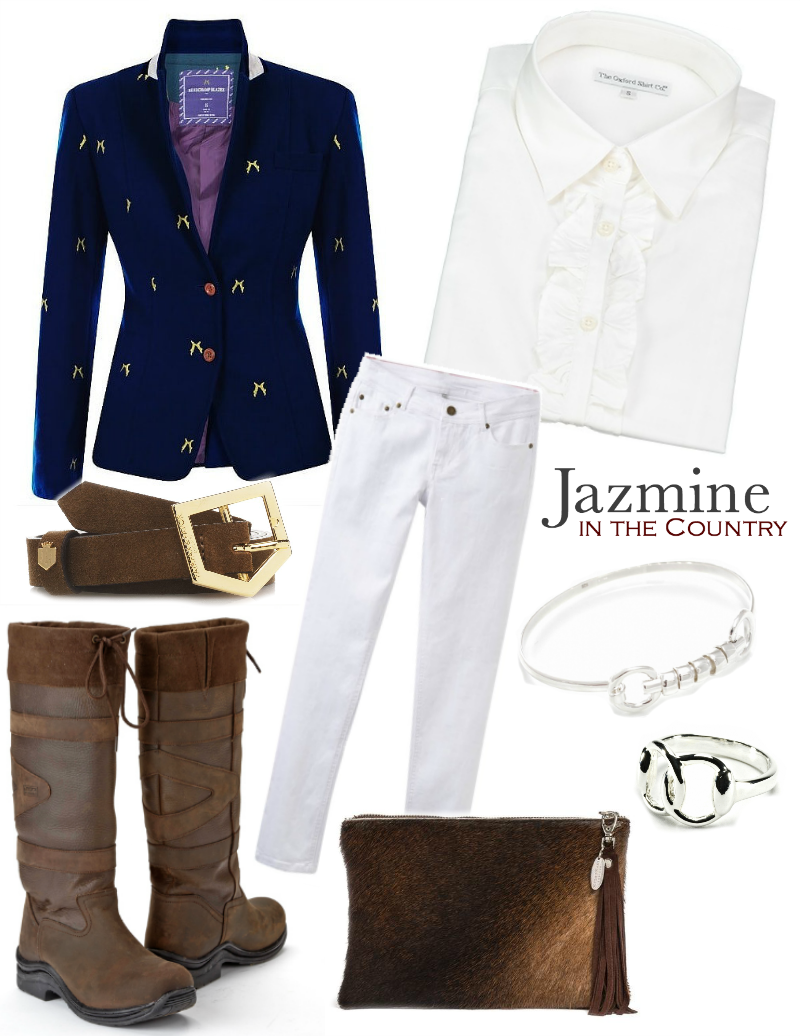 Sporting Hares Beauchamp Blazer in Deep BlueJacketWomens Tweed Blazer