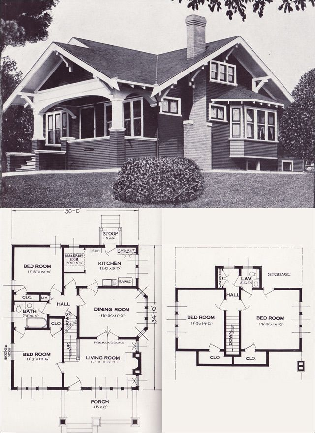 vintage craftsman house plan